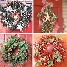 Las coronas son frecuentes en las puertas, son redondas porque simbolizan el cierre de un ciclo y se usan para reunirse ante ellas y recordar los eventos del año