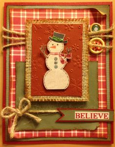 12 Days of Christmas Day 7 - Believe Snowman Card