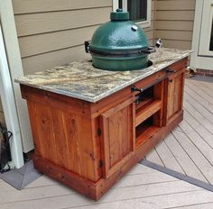 Big Green Egg Table Design Ideas, Pictures, Remodel And Decor   Egg Ideas    Pinterest   Big Green Egg Table, Green Eggs And Grill Island