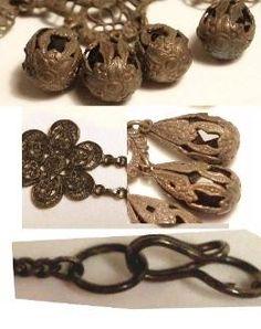 Rare Georgian SPider Filigree JET Mourning Drop by vintagesparkles, $850.00