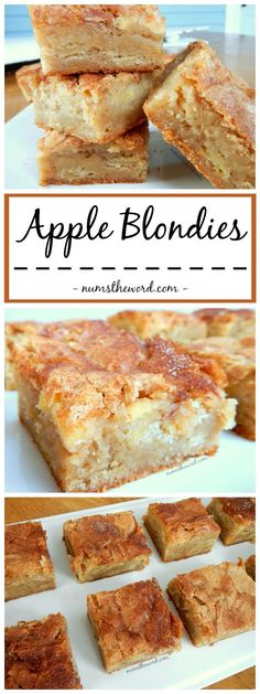 A perfect Autumn dessert that mixes apple pie and blondies. Yummy Apple Blondies…