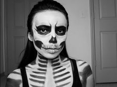 Zombie Skull Girl : Last Minute Halloween Look