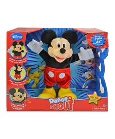 This Mickey Mouse Dance & Shout Plush Toy by Mickey Mouse Clubhouse is perfect! #zulilyfinds