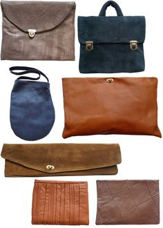 Leather bags love the shapes. Do you want to create your own leather bags? Take a look at our leather bag making course here; https://www.mastered.com/courses/18 Save £40 and get the course for £80 if you pre-order.
