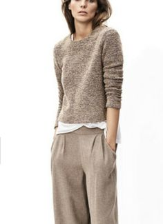 Stitch Fix Stylist:  LOVE this sweater.  The length, the crew neck, the softness.  Love the whole look.