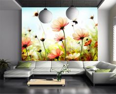 29.99$  Know more - http://aix9o.worlditems.win/all/product.php?id=32778779308 - 3d room wallpaper custom photo non-woven wallpaper mural Flower grass bee scenery Photo TV sofa background wallpaper for wall 3d