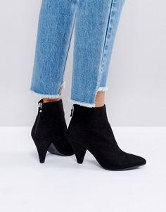 fe99ffb47f4 New Look Suedette Cone Heeled Ankle Boot. New Look HeelsThigh High Boots  FlatBlack Ankle BootsBrown ...