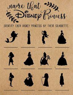 Name That Disney Princess Bridal Shower Game .- Name That Disney Princess Bridal Shower Game . Disney Diy, Disney Babys, Disney Ideas, Disney Images, Princess Bridal Showers, Disney Bridal Showers, Baby Shower Princess, Princess Wedding, Princess Birthday