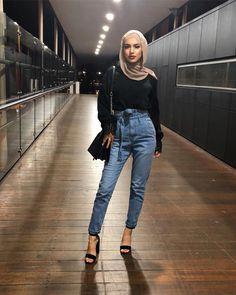 Modern Hijab Fashion, Street Hijab Fashion, Hijab Fashion Inspiration, Muslim Fashion, Modest Fashion, Fashion Outfits, Casual Hijab Outfit, Casual Outfits, Ootd Hijab