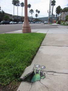 Chalk Drawn Sluggo of David Zinn can be seen in this post. His momentary Street Art is completely poised with chalk and charcoal. 3d Street Art, Amazing Street Art, Street Art Graffiti, Street Artists, Graffiti Artists, David Zinn, Pablo Picasso, 3d Sidewalk Art, Urbane Kunst