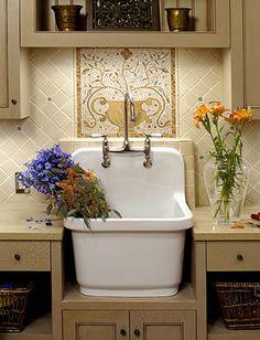Mudroom on pinterest sinks mud rooms and farm sink for Mudroom sink ideas