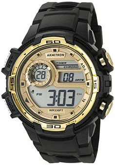 Armitron Sport Men's 40/8347BKGD Gold-Tone Accented Digital Chronograph Black Resin Strap Watch https://www.carrywatches.com/product/armitron-sport-mens-408347bkgd-gold-tone-accented-digital-chronograph-black-resin-strap-watch/ Armitron Sport Men's 40/8347BKGD Gold-Tone Accented Digital Chronograph Black Resin Strap Watch  #armitrongoldwatch- #armitronsportwatches-armitronallsport #armitronwatches #Chronographwatch