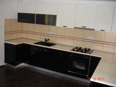 Mobila Bucatarie Alb cu Negru Kitchen Cabinets, Home Decor, Decoration Home, Room Decor, Cabinets, Home Interior Design, Dressers, Home Decoration, Kitchen Cupboards