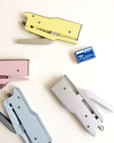 Yay, pastel steel staplers are in! Craftmanship from Italy since 1924