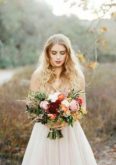 Pretty bouquet in rich fall colors. www.highfieldhallweddings.com