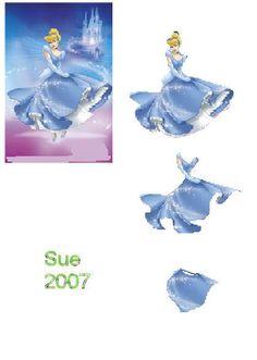 Photo by Sue Collins 3d Paper, Paper Crafts, Decoupage Printables, 3d Sheets, Disney Cards, 3d Pictures, 3d Craft, Disney Images, Printable Templates