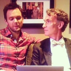 Joel McHale and Bill Nye the Science Guy. I bet science is about to happen. Photo by darkematter