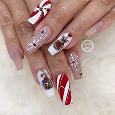 - Amazing Christmas coffin nails design with snowflakes, Christmas Snowflakes coffin nails , Acrylic coffin nails design for Christmas,Christmas Nails; Elegant Nail Designs, Colorful Nail Designs, Elegant Nails, Nail Art Designs, Christmas Nail Designs, Christmas Nail Art, Christmas Snowflakes, Christmas Christmas, Christmas Ideas