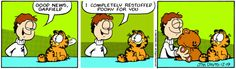 Garfield and Pooky comic strip