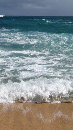 Blue Waves 6 iPhone 5 Wallpaper