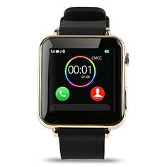 Aipker ZY06 Bluetooth Smartwatch Phone with SIM Card Slot Camera for Samsung LG Sony All Android Phones Gold *** Click on the image for additional details.