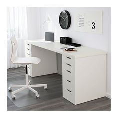 IKEA - LINNMON, Table top, white, , A long table top makes it easy to create a work space for two.Pre-drilled leg holes for easy assembly. Eyebrow Makeup Tips Home Office Space, Home Office Design, Home Office Decor, Office Furniture, Office Ideas, Office Nook, Desk Office, Furniture Movers, Office Style