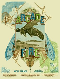 artistic indie music gig Posters | Arcade Fire | Flickr - Photo Sharing!