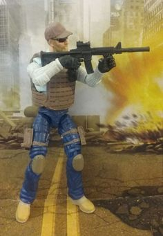 Gi Joe Forças Especiais Personalizado agente da DEA Cia operador Merc Retaliação Poc 50TH