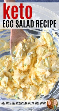 Keto Egg Salad with Dijon Mustard and chopped green onions is a simple and healthy egg salad base, perfect for a low carb lifestyle. But you do not have to be Keto to enjoy this creamy and filling egg salad, its just SO good. Keto Egg Salad, Healthy Egg Salad, Easy Egg Salad, Healthy Salad Recipes, Low Carb Egg Salad Recipe, Carb Free, Steak And Eggs Diet, Low Carb Pasta, Eggs