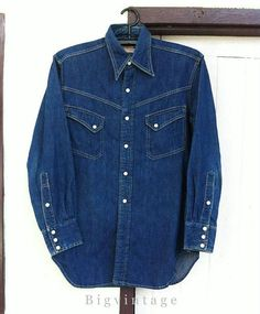 The flat head 7001 selvedge denim western shirt classic for Levis vintage denim shirt 1950 sawtooth slim fit