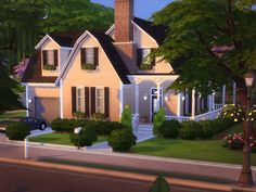 The Sims Resource: Spring Breeze House - NO CC! by melcastro91 • Sims 4 Downloads