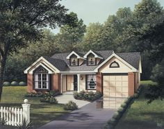 Country House Plan with 1092 Square Feet and 3 Bedrooms from Dream Home Source | House Plan Code DHSW64296