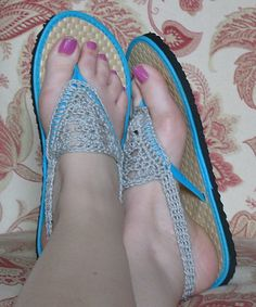 Ravelry: gottamake's Crocheted Sandals