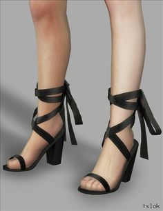 Adelaide Laced Up Heels for The Sims 4 by TSLOK