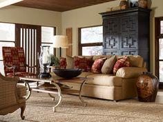 Southwestern style w/ amazing wood cabinet in background