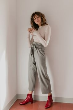 lounge pants grey-green by Cossac Vegan Fashion, Ethical Fashion, Jeans Pants, Trousers, High Wasted Jeans, Sustainable Fabrics, Fashion Articles, Cotton Pants, Lounge Pants