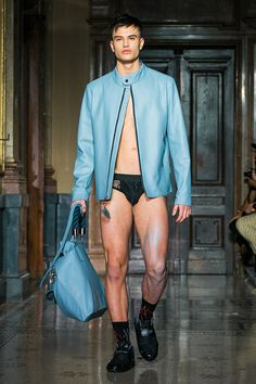 STINAK MENSWEAR FASHION SHOW BLUE LEATHER