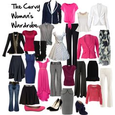 """Ideas for a Curvy woman's Wardrobe (Winter)"" by l-edwards on Polyvore"