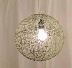 Como hacer una lampara colgante ~ cositasconmesh