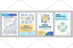 Leaflet Printing, Creative Brochure, Advertising, Ads, Newsletter Templates, Page Layout, Brochure Template, Email Marketing, Booklet