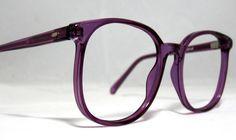 Vintage 80s Large Square Horn Rim Eyeglass Frames. Amethyst | Etsy Super Glasses, Funky Glasses, Glasses Frames, Oversized Glasses, Cute Frames, Fashion Eye Glasses, Glasses Online, Vintage Frames, Eyeglasses