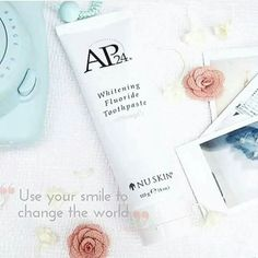 A smile is the prettiest thing you can wear! It can be achieved with the Whitening Fluoride Toothpaste! The toothpaste brightens and whitens your teeth while fighting plaque formation. Remember you are never fully dressed without a smile! Ap 24 Whitening Toothpaste, Whitening Fluoride Toothpaste, Natural Teeth Whitening, Nu Skin Ageloc, Teeth Care, White Teeth, Beauty Box, Health And Beauty, Beauty Hacks