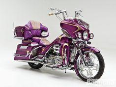 ✿ڿڰۣ(̆̃̃•Aussiegirl  # Purple # Passion                  Harley Davidson Road King