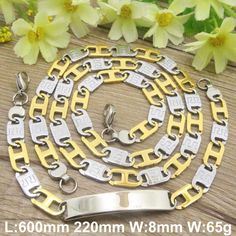 Find More Jewelry Sets Information about HOT Stainless Steel fashion Jewelry Popula gold silver color Necklace Bracelet  sets for men and women SFXADYCD,High Quality bracelet set,China set coaster Suppliers, Cheap set trolley from JOYAS STAINLESS STEEL JEWELRY on Aliexpress.com