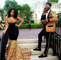 So first thing's first. These girls are all killing it. But not all African fabrics are the same, nor are they all worn uniformly across Africa. According to African designer Busayo Olupona who designs for BusayoNYC, the prints featured in this post are primarily worn in West Africa. | 18 Beautiful African Prom Dresses That'll Give You Goals