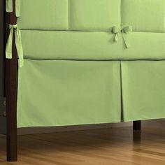 Solid Sage Dust Ruffle | 14 or 20 Inch Sage Green Box Pleat Crib Skirt | Carousel Designs