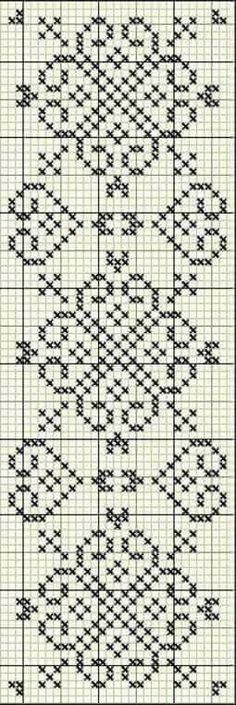 Discover thousands of images about Cross stitch trefoil style border pattern Cross Stitch Bookmarks, Cross Stitch Borders, Cross Stitch Charts, Cross Stitch Designs, Cross Stitching, Cross Stitch Embroidery, Embroidery Patterns, Cross Stitch Patterns, Crochet Patterns