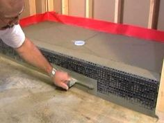 Learn How to install a Shower Pan from The Tile Shop of bathroom master Bathroom Renos, Basement Bathroom, Small Bathroom, Master Bathroom, Bathroom Ideas, Tile Showers, Shower Pan, Master Bath Remodel, Home Upgrades