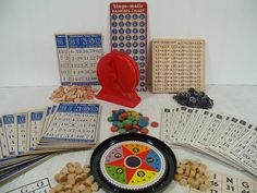 Huge BINGO Collection of Games & Equipment  by DivineOrders #etsy