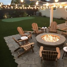 You can make your home far more particular with backyard patio designs. You are able to turn your backyard into a state like your dreams. You will not have any trouble at this point with backyard patio ideas. Backyard Seating, Backyard Patio Designs, Fire Pit Backyard, Deck With Fire Pit, Cool Backyard Ideas, Deck Patio, Diy Backyard Projects, Backyard Chairs, Rustic Backyard